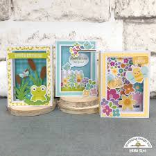 Spring Photo Cards Doodlebug Design Inc Blog Simply Spring Shadow Box Cards