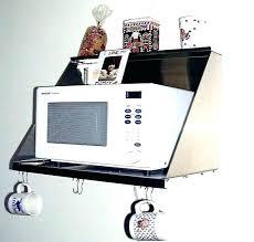 wall mounted microwave shelves shelf mount double bracket aluminum oven