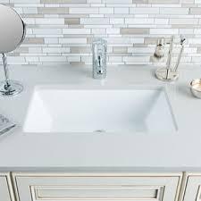 undermount bathroom sink. Hahn Ceramic Medium Rectangular Bowl Undermount White Bathroom Sink