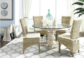 rattan dining sets a pair of grey wash rattan dining chairs with cream cushion