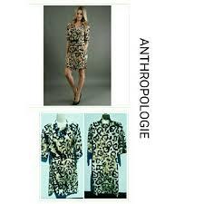 Anthropologie Dress Size Chart Anthropologie Leopard Cape Marble Dress Yoana Baraschi For
