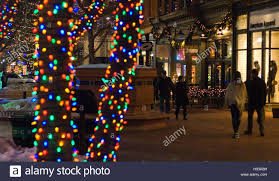 Pearl Street Lights Pearl Street Mall During The Holidays In Boulder Colorado