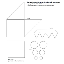 Free Bookmark Templates Corner Bookmark Template Make A Blank Word Templates For Free