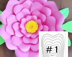 Pearl S Crafts Paper Flower Templates Hard Copy Yaf Template 25 For Diy Paper Flower Backdrops