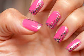 pink-nail-art-design-ideas-with-colorful-glitter-swirls-ornament ...
