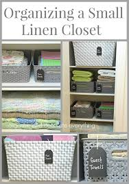 organizing a small linen closet a organized nest home organization ideas