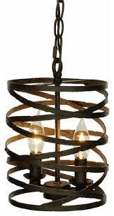 pasco 2 light pendant lamp weathered iron