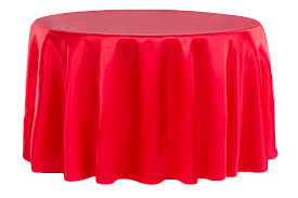 satin 132 round tablecloth red