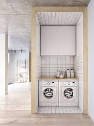 Small Modern Laundry Room