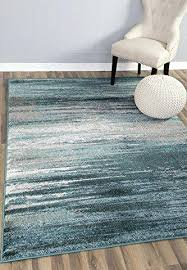 teal gray rug modern contemporary design 7 x 10 wool area