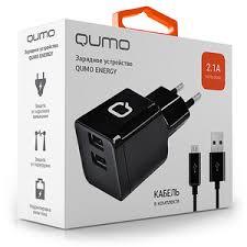 Купить <b>Зарядное устройство</b> сетевое <b>Qumo</b> Energy <b>2xUSB</b> 2.1A ...
