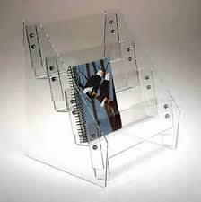 Acrylic Book Display Stands Inspiration Countertop BookmarkDVDBook Display