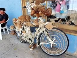 Tarpon Springs Sponge Docks: Sponge bike decoration.