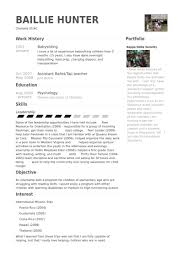 Babysitting Resume Samples Visualcv Resume Samples Database