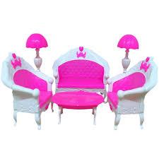 barbie dollhouse furniture cheap. Olizard E-TING Mini Dollhouse Furniture Living Room Set Table And Chair For Barbie Dolls Cheap R