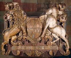stern carving from english ship the royal charles the ship was stern carving from english ship the royal charles the ship was built in england in 1655 during the rule of oliver cromwell it was the largest