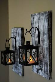 rustic wall decor wall sconce candle