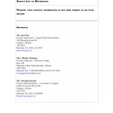 Best Proper Format For Reference Page Resume Gallery Example