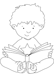 Small Picture Reading coloring 1 Free Coloring Page Site Schule Pinterest