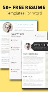 105 Free Resume Templates For Word [Downloadable | Pinterest | Cv ...