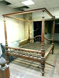 Antique Wooden Bed Frames Canopy Beds Old Wood Frame Queen King Size ...
