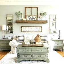 coffee table shelf symmetrical very soothing arrangement on wall ideas living farmhouse room decor decorating