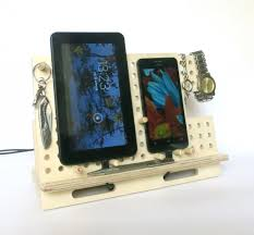 charging station organizer wood docking station iphone dock tablet holder ipad stand
