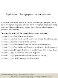Top 8 Travel Photographer Resume Samples