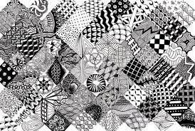Zentangle Patterns Awesome Tangle Gallery Doodle Art Club