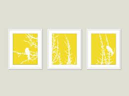 white and yellow wall art