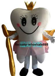 Mascot Size Chart Tooth Queen Mascot Costume Suits Dental Care Adults Size