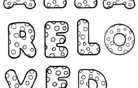 Ok so, now that we know the basic construction of bubble letters it's time to add them some details to working with color is a whole other story for itself, and to explain how to use them in your lettering correctly, it would really drag out this tutorial. Free Printable Bubble Letter Coloring Pages Coloring Print Bubble Letters Coloring Pages Lettering