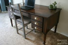 turned leg traditional desk diy desk inspired by pottery barn