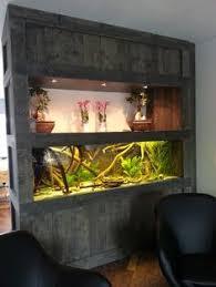 aquarium furniture design. Pallet Wall Unit With Fish Tank Enclosure Aquarium Furniture Design