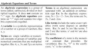 definition of equation in algebra jennarocca