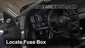 interior fuse box location 2005 2012 porsche boxster 2012 locate interior fuse box and remove cover