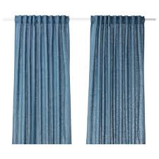 Curtains Aina Curtains 1 Pair Blue 145x250 Cm Ikea