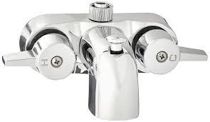 Heavy Duty 3 3 8 Centers Chrome Plated Diverter Clawfoot Tub Bathtub Shower Faucet Amazon