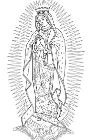 Our Lady Of Guadalupe Coloring Page Free Printable Coloring Pages