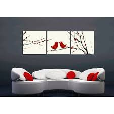 sweet couple red birds oil painting branch artwork artistic square framed pinterest canvas wall art set on framed wall art sets of 3 with wall art awesome gallery canvas wall art set of 3 cheap canvas wall