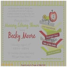Baby Shower Invitation Cards Storybook Themed Baby Shower Library Themed Baby Shower Invitations