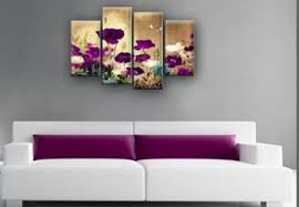purple plum beige or teal and cream to multi field poppies flowers floral 4 panel picture canvas art print on multi panel wall art uk with purple plum beige or teal and cream to multi field poppies