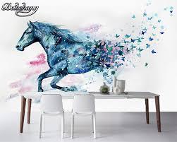 Beibehang Behang Voor Muren 3 D Handgeschilderde Aquarel Paard