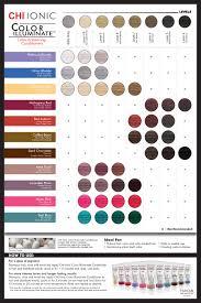 Chi Tone And Shine Color Chart Chi Ionic Color Illuminate Conditioners Chi Hair Care