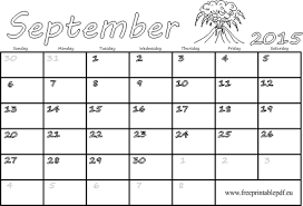 Calendar Blank 2015 September 2015 Blank Calendar Free Printable Pdf