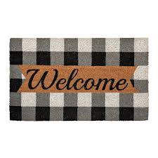 open door welcome mat. Black And White Buffalo Check Welcome Mat Open Door H