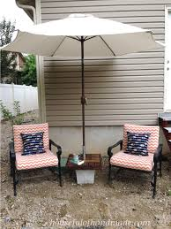make your own umbrella stand with a side table for makes the perfect seating
