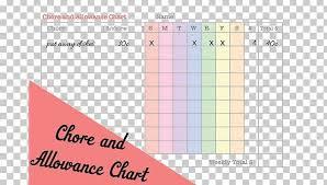 Chore Chart Allowance Money Child Png Clipart Free Png