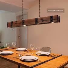 Senarai Harga Nordic Design Loft Vintage Led Pendant Lamp Iron Wood