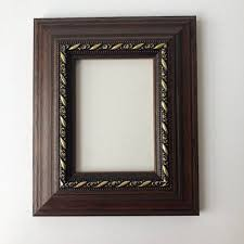 details about new quality wooden aceo art sports card 3 5 x 2 5 dark brown gold picture frame